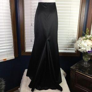 JS Collections Black Satin Fishtail Skirt 12